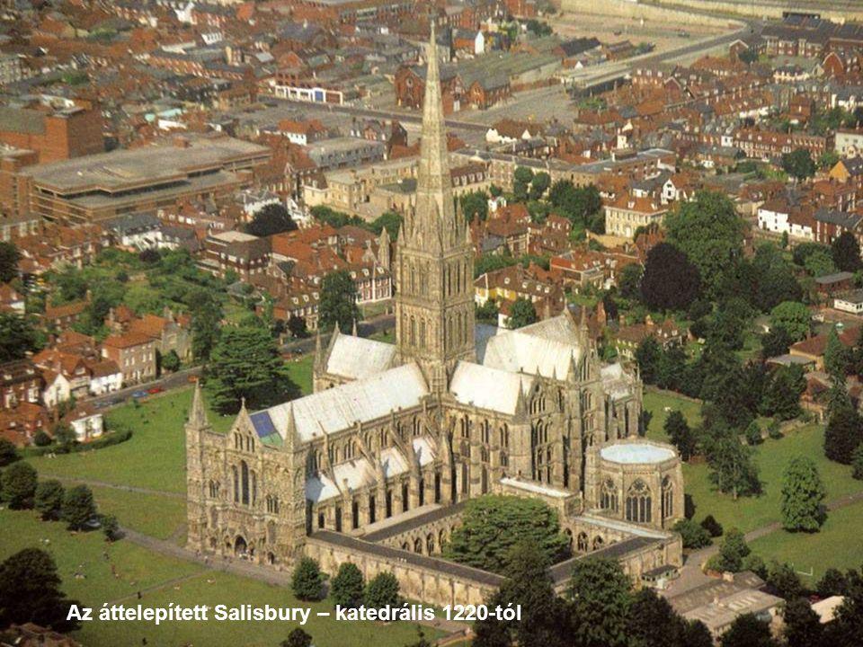 Az áttelepített Salisbury – katedrális 1220-tól