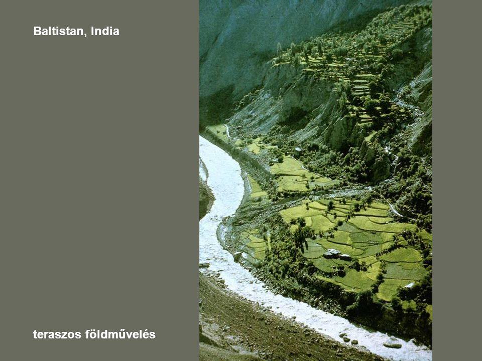 Baltistan, India teraszos földművelés