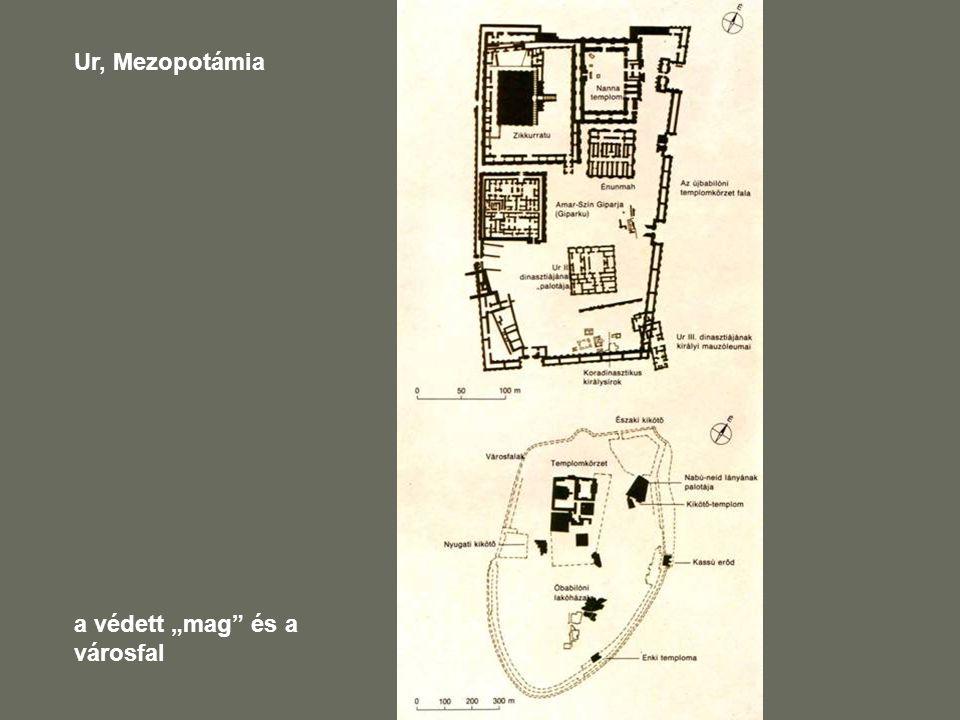 """Ur, Mezopotámia a védett """"mag és a városfal"""
