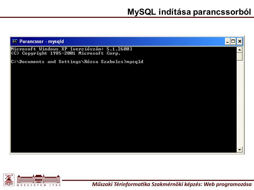 MySQL indítása parancssorból