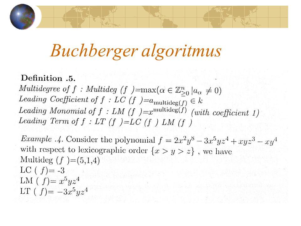 Buchberger algoritmus