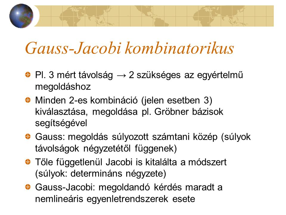 Gauss-Jacobi kombinatorikus