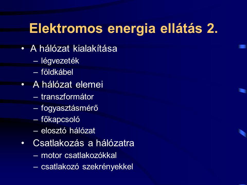 Elektromos energia ellátás 2.