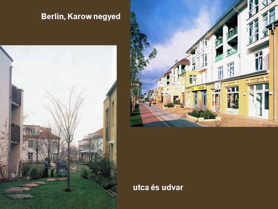 Berlin, Karow negyed utca és udvar