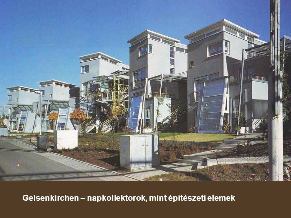 Gelsenkirchen – napkollektorok, mint építészeti elemek