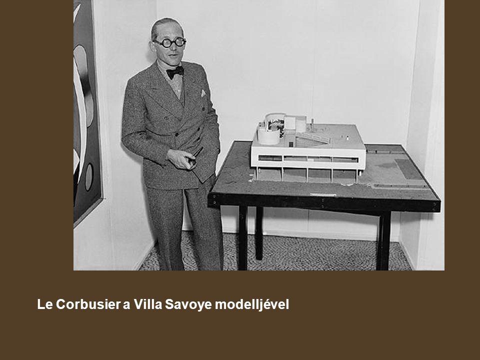 Le Corbusier a Villa Savoye modelljével