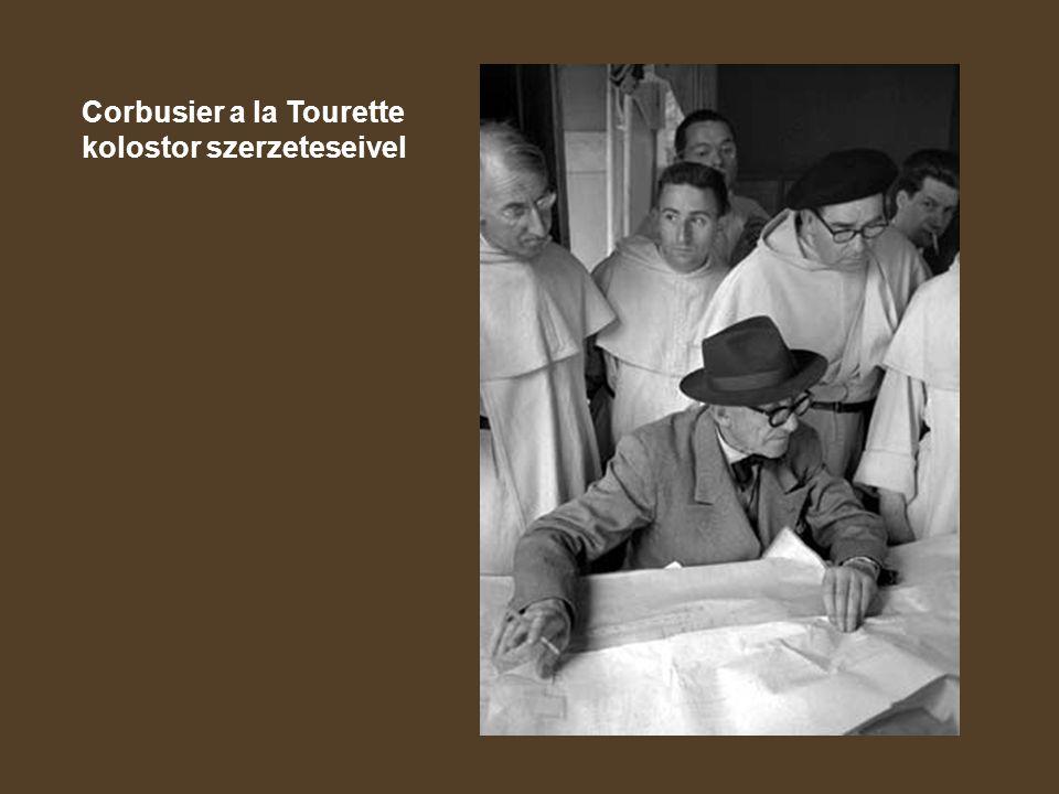 Corbusier a la Tourette kolostor szerzeteseivel