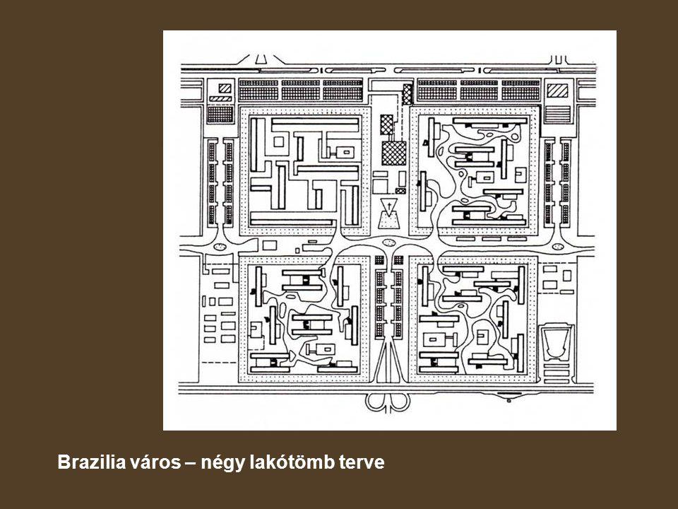 Brazilia város – négy lakótömb terve