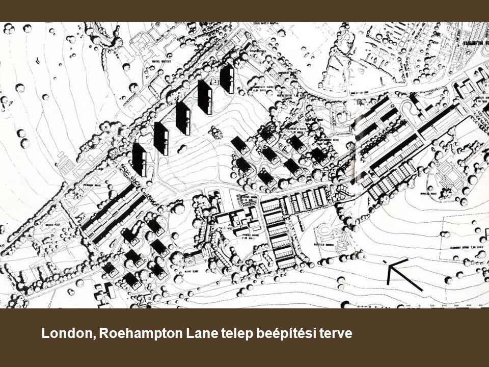 London, Roehampton Lane telep beépítési terve