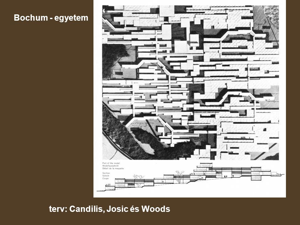 Bochum - egyetem terv: Candilis, Josic és Woods