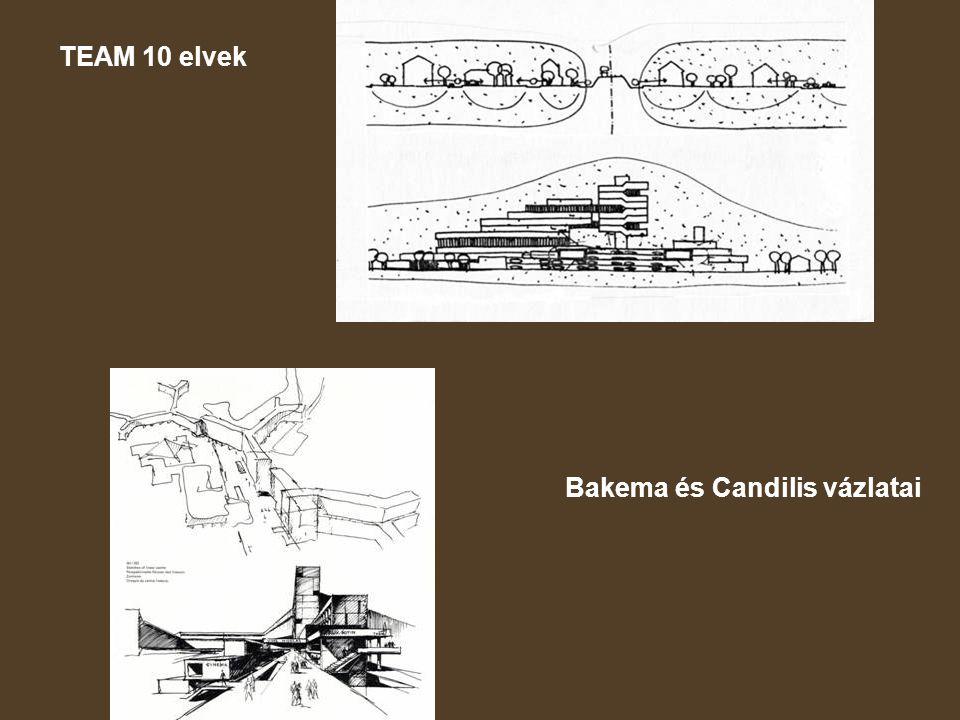 TEAM 10 elvek Bakema és Candilis vázlatai
