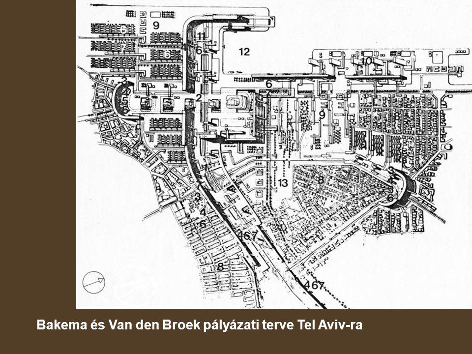 Bakema és Van den Broek pályázati terve Tel Aviv-ra