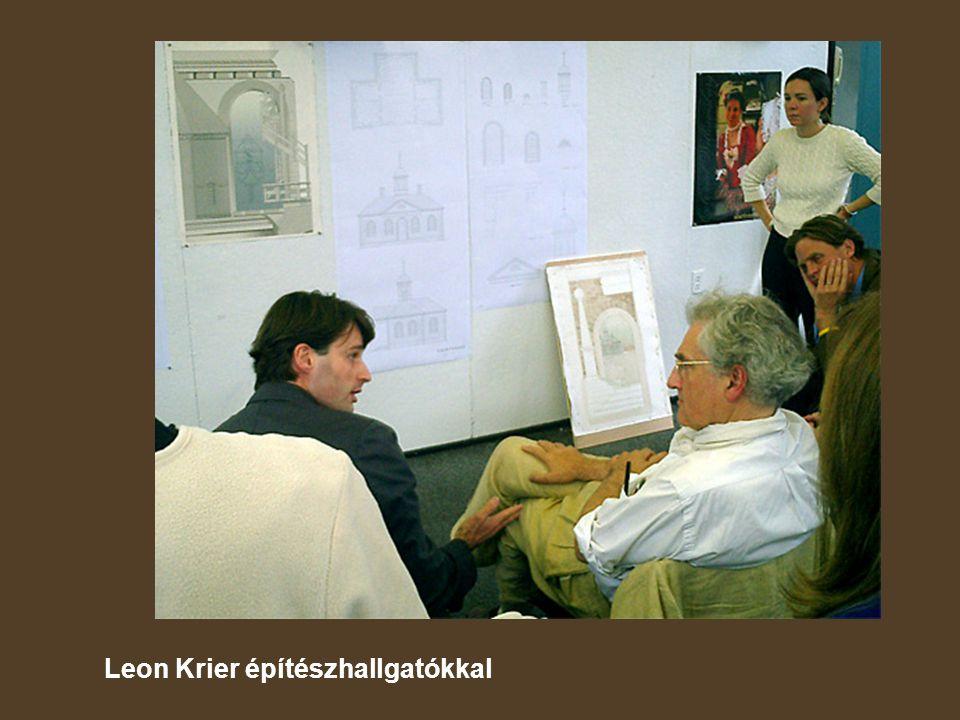 Leon Krier építészhallgatókkal