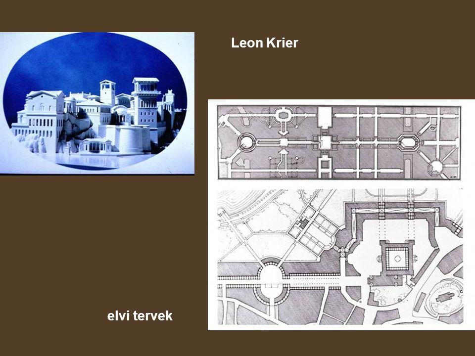 Leon Krier elvi tervek