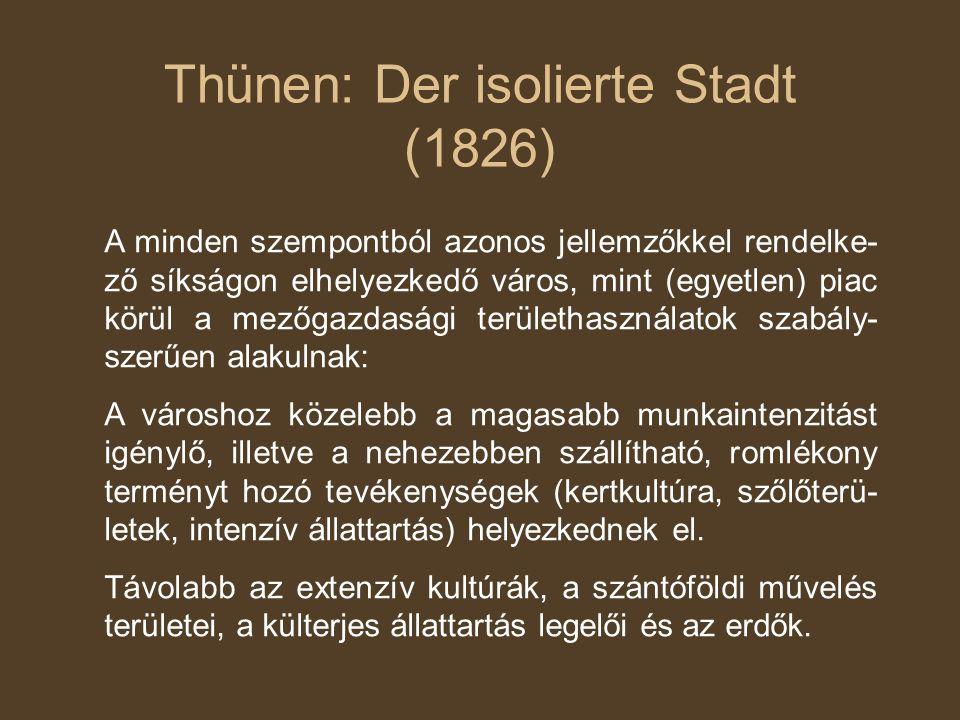 Thünen: Der isolierte Stadt (1826)