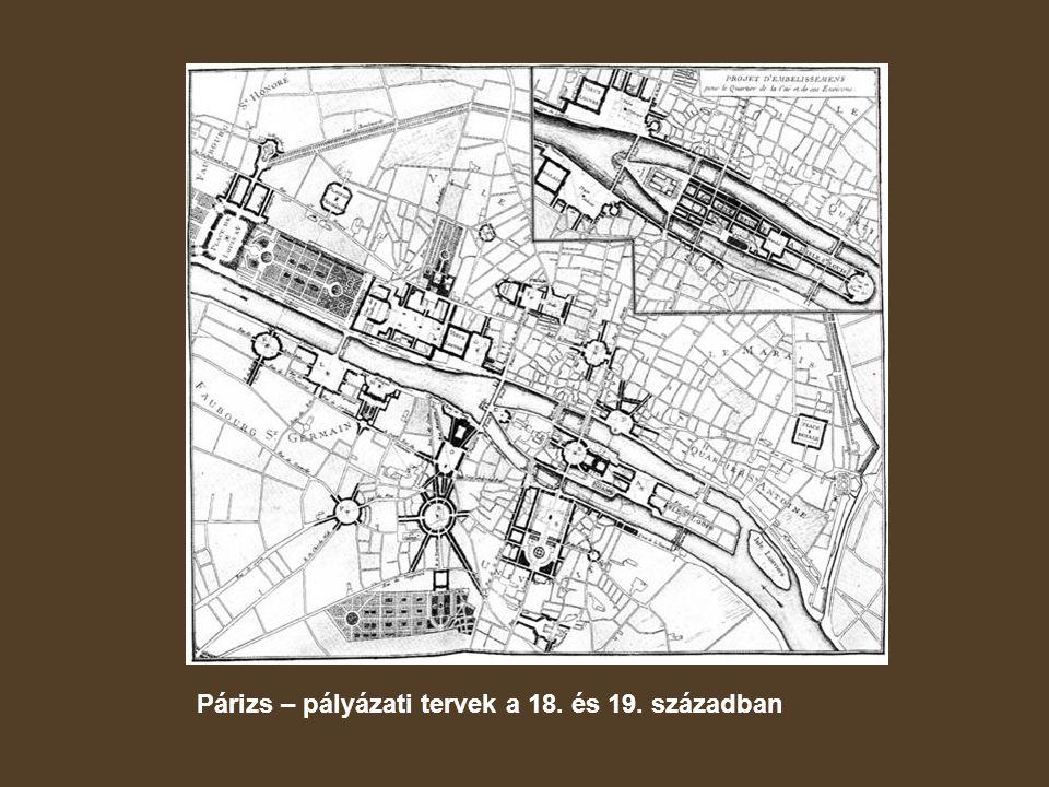 Párizs – pályázati tervek a 18. és 19. században
