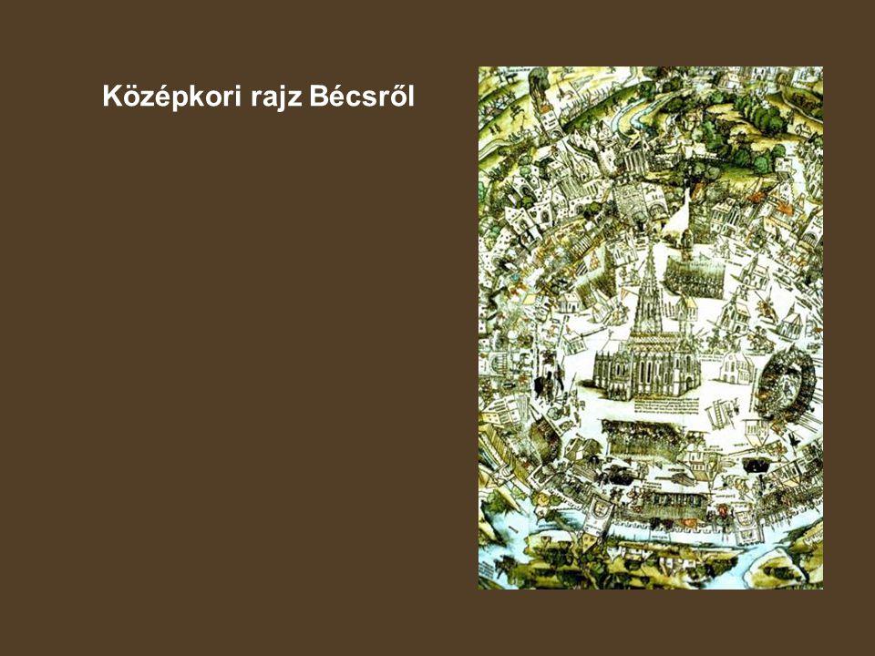 Középkori rajz Bécsről
