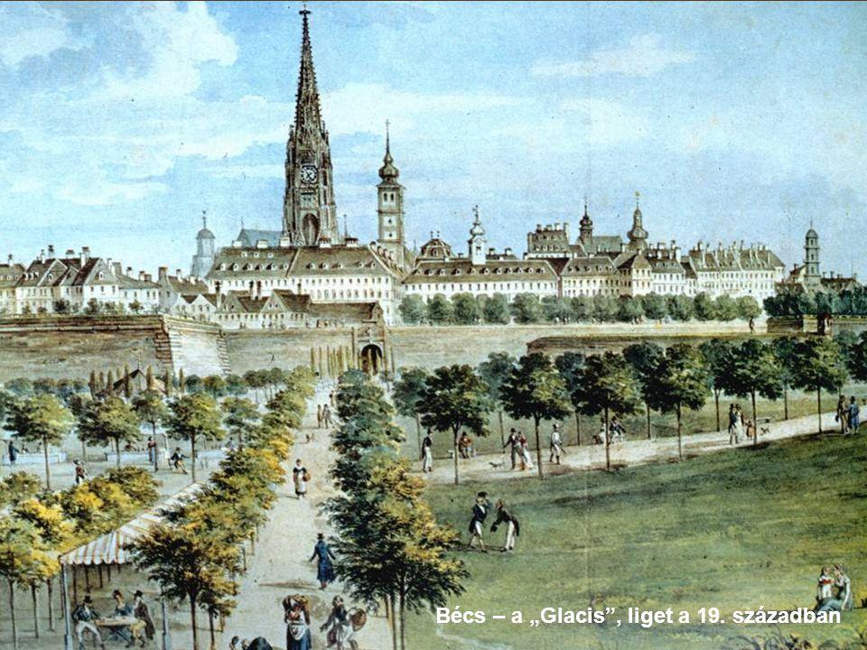 """Bécs – a """"Glacis , liget a 19. században"""