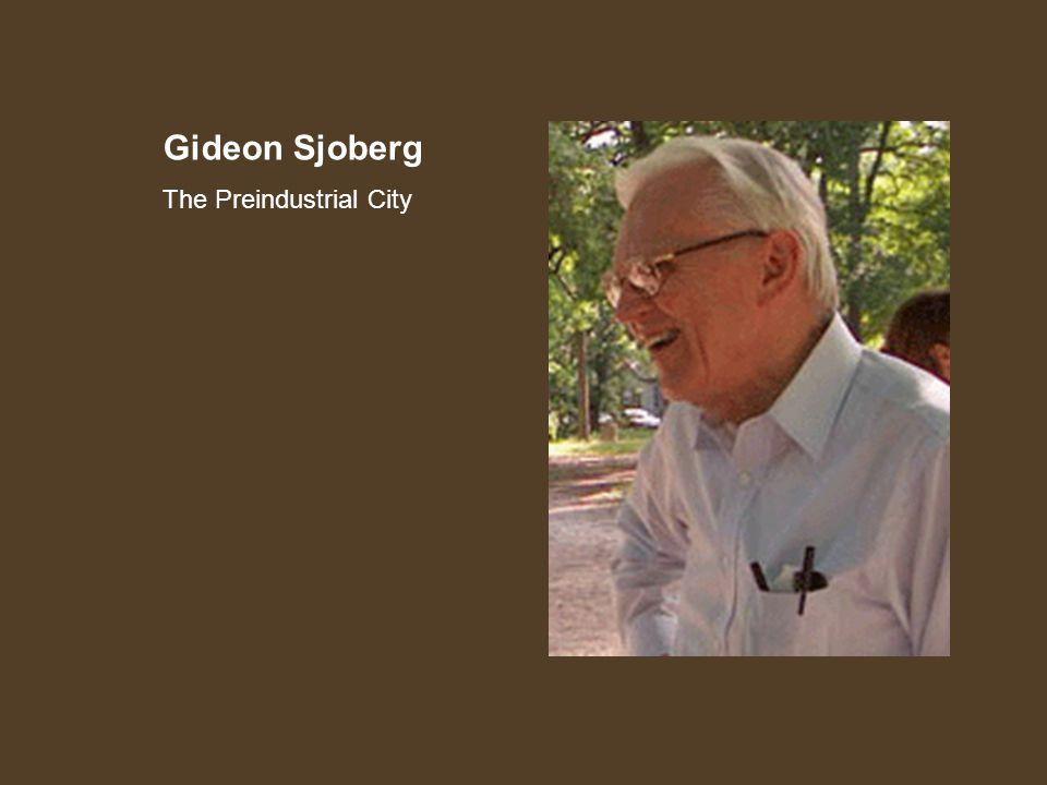 Gideon Sjoberg The Preindustrial City