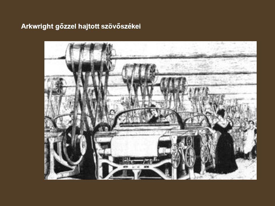 Arkwright gőzzel hajtott szövőszékei