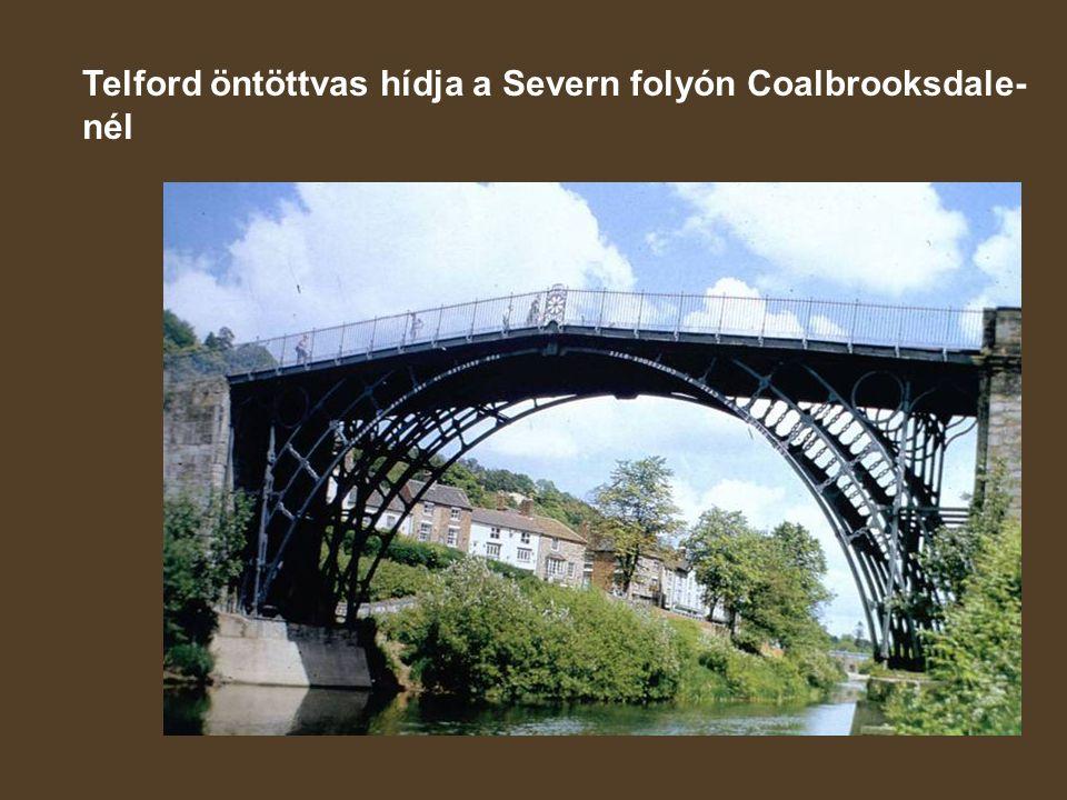 Telford öntöttvas hídja a Severn folyón Coalbrooksdale-nél