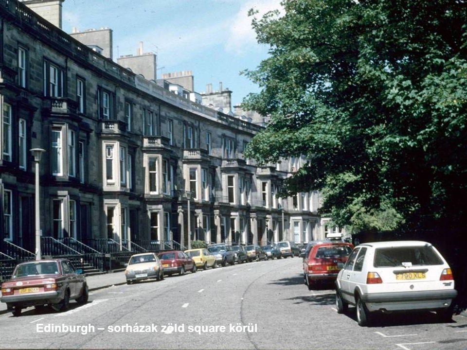 Edinburgh – sorházak zöld square körül