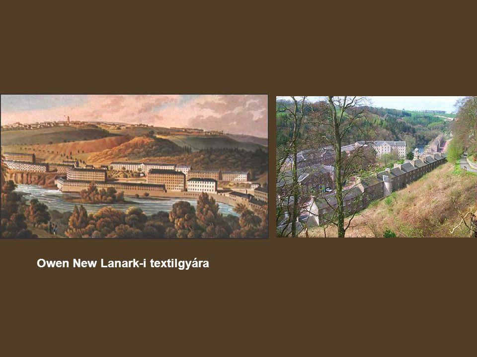Owen New Lanark-i textilgyára