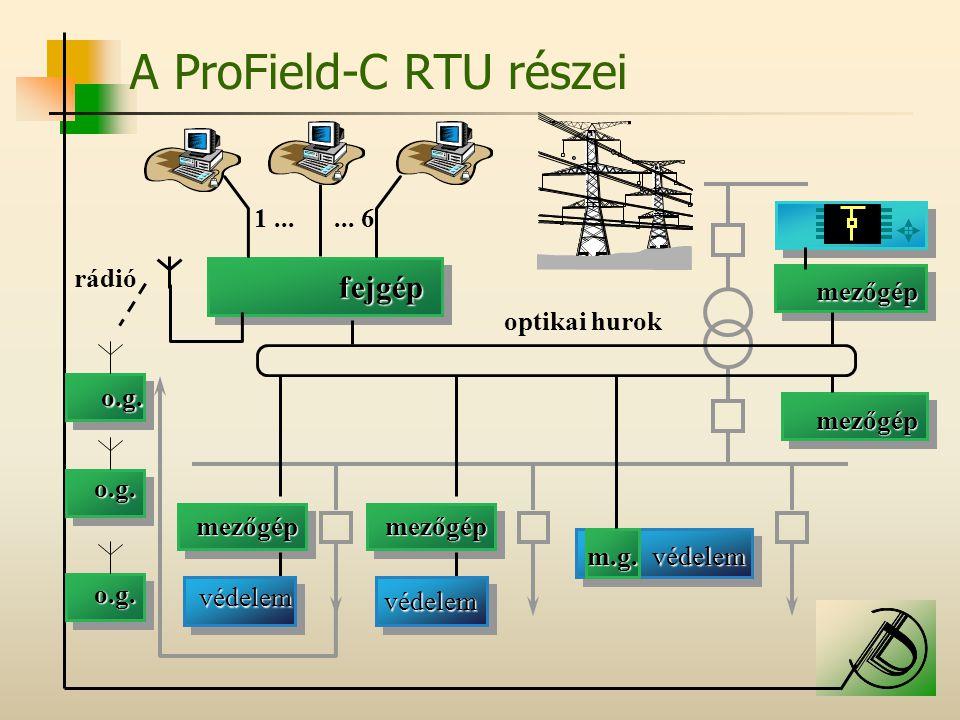 A ProField-C RTU részei