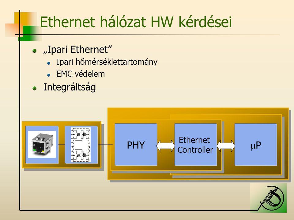 Ethernet hálózat HW kérdései