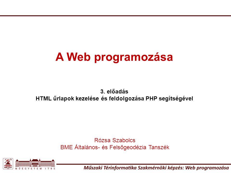 HTML űrlapok kezelése és feldolgozása PHP segítségével