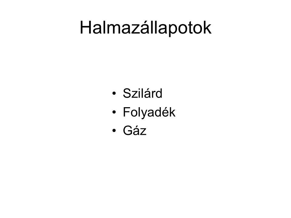 Halmazállapotok Szilárd Folyadék Gáz