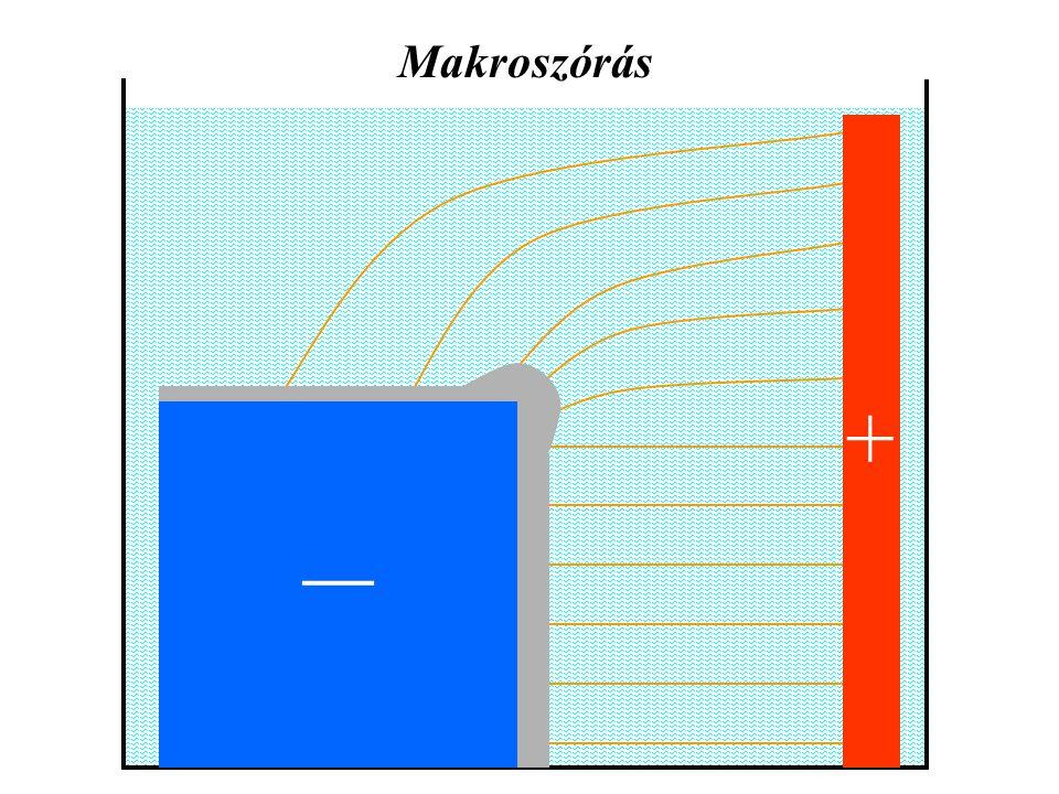 Makroszórás __ +