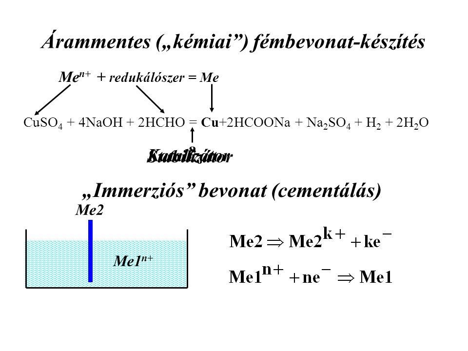 """Árammentes (""""kémiai ) fémbevonat-készítés"""