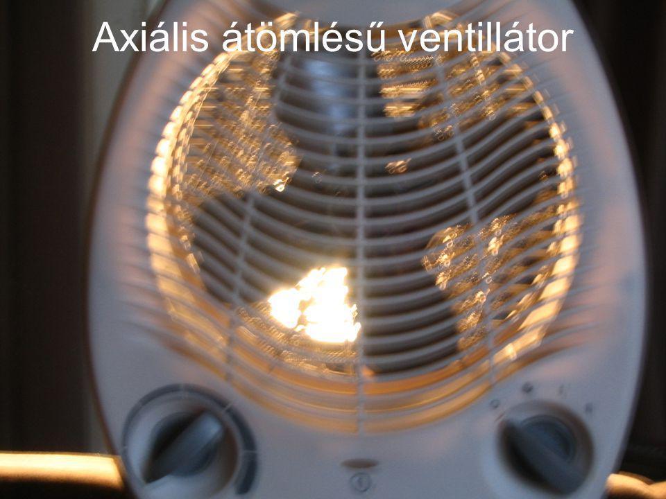 Axiális átömlésű ventillátor