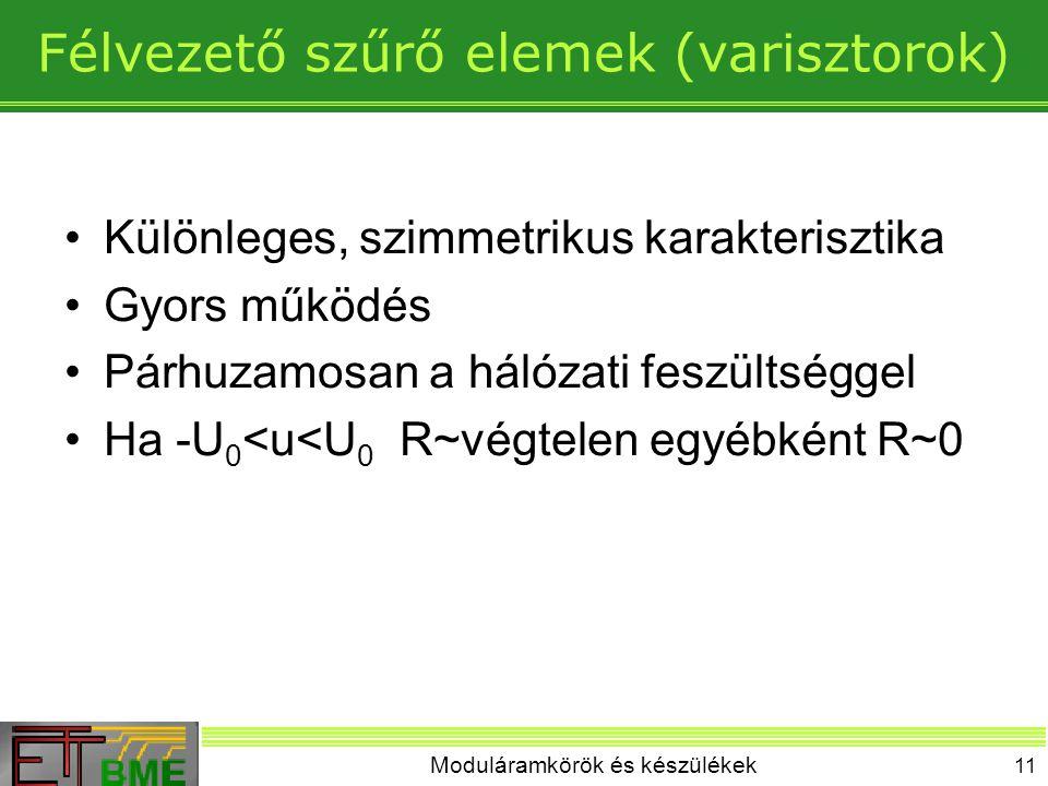 Félvezető szűrő elemek (varisztorok)