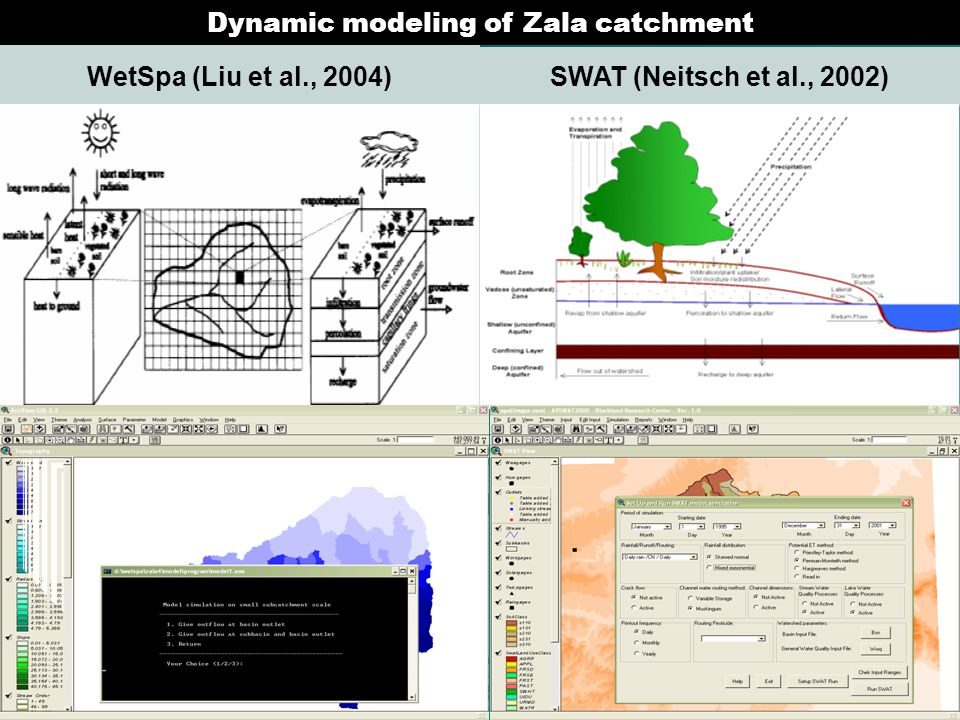 Dynamic modeling of Zala catchment