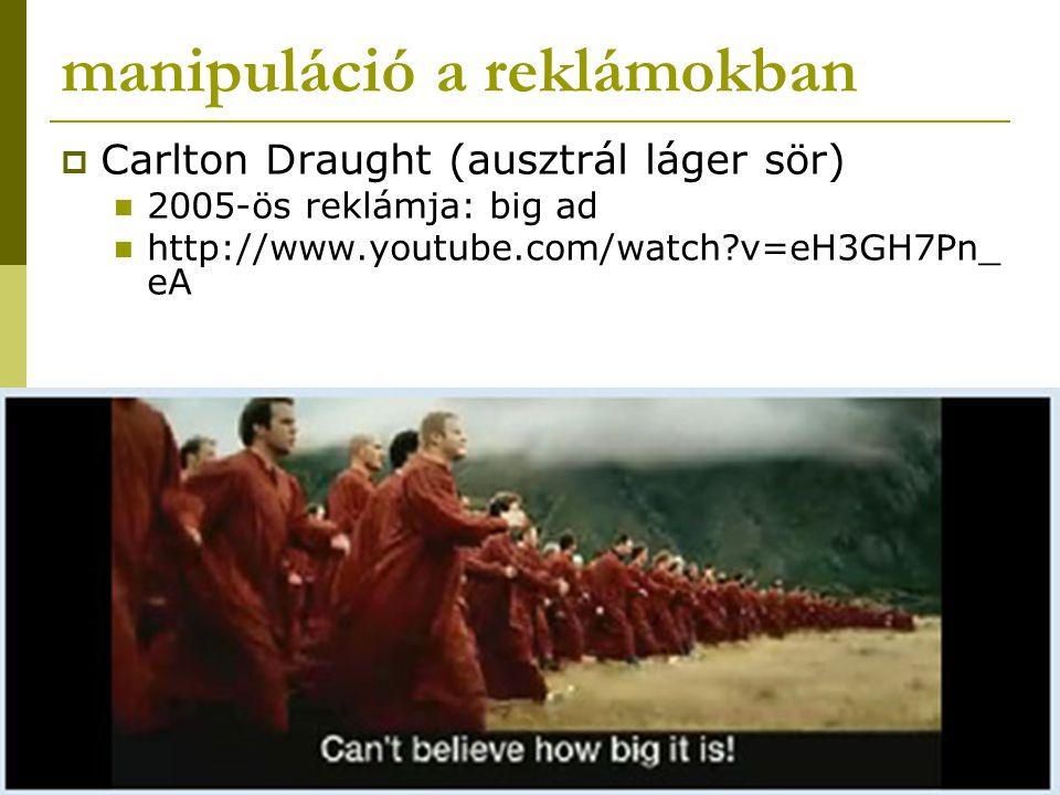 manipuláció a reklámokban