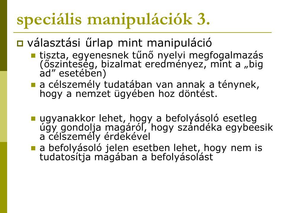 speciális manipulációk 3.