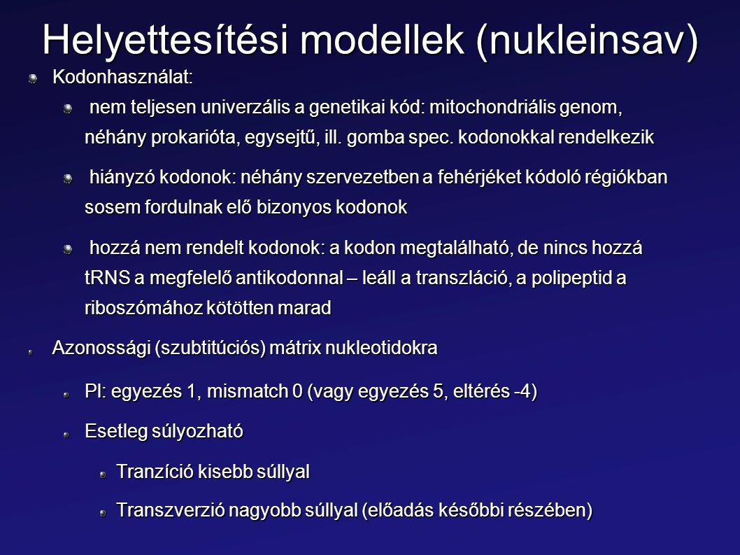 Helyettesítési modellek (nukleinsav)
