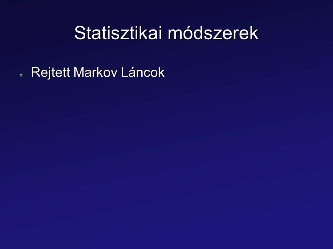 Statisztikai módszerek