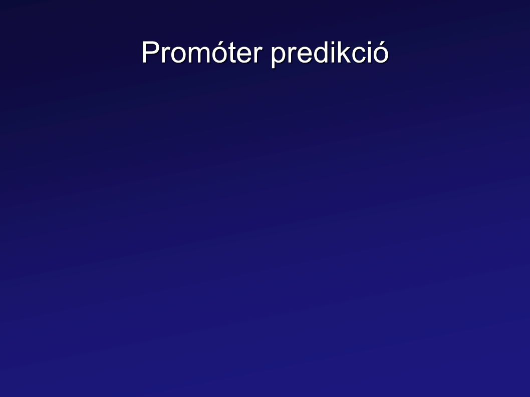 Promóter predikció