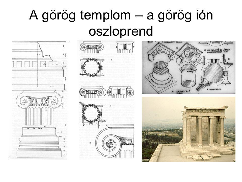 A görög templom – a görög ión oszloprend