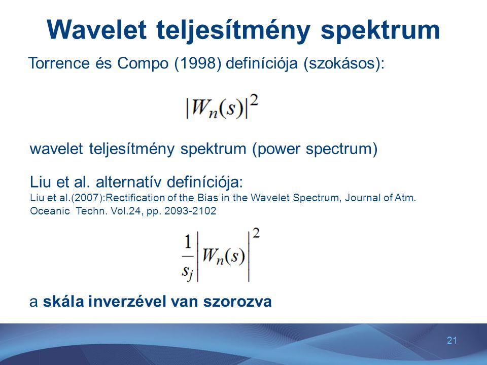 Wavelet teljesítmény spektrum