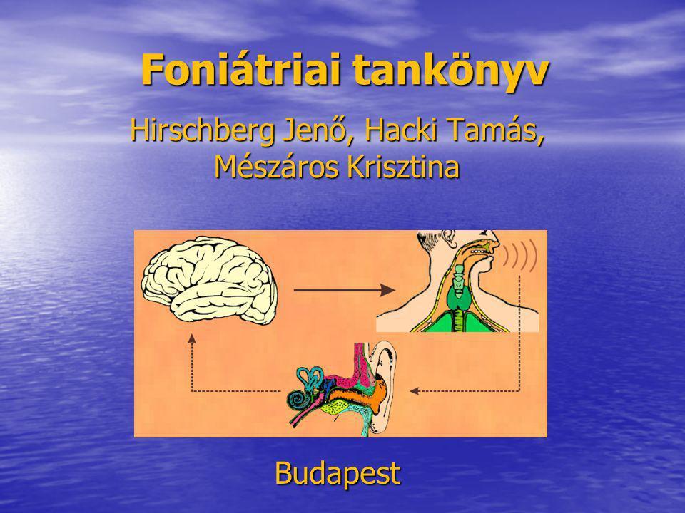 Hirschberg Jenő, Hacki Tamás, Mészáros Krisztina Budapest