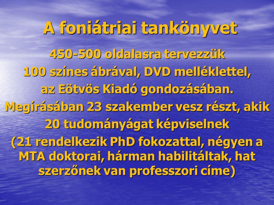 A foniátriai tankönyvet