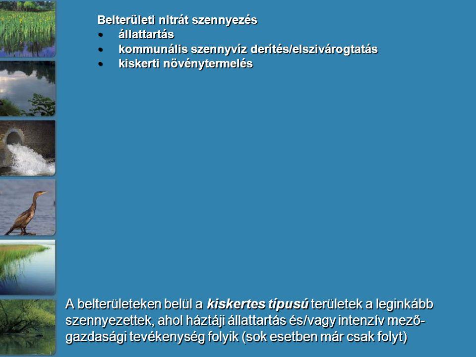 Belterületi nitrát szennyezés