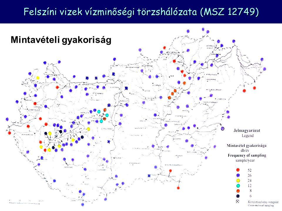 Felszíni vizek vízminőségi törzshálózata (MSZ 12749)
