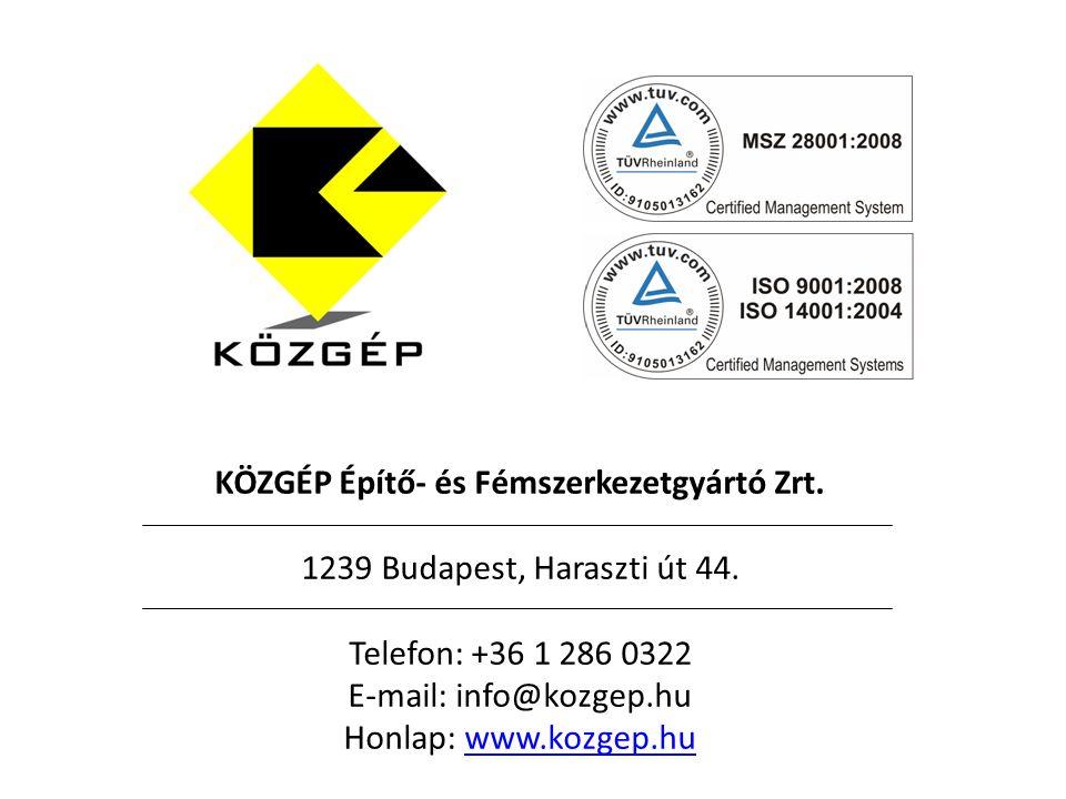 KÖZGÉP Építő- és Fémszerkezetgyártó Zrt.
