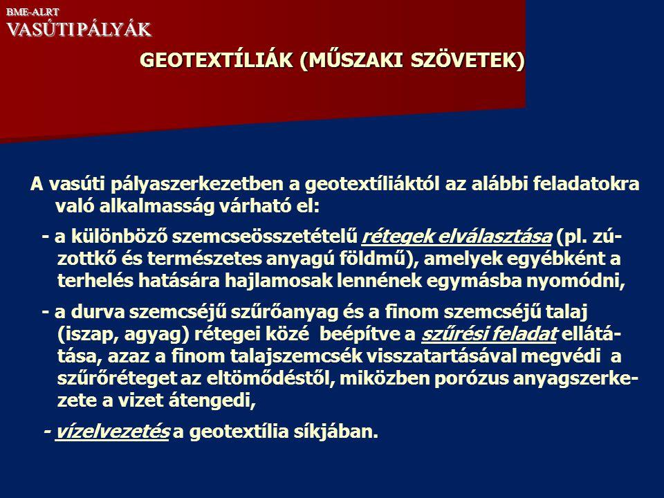 GEOTEXTÍLIÁK (MŰSZAKI SZÖVETEK)