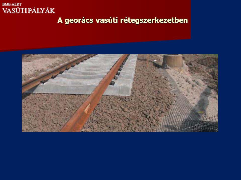 A georács vasúti rétegszerkezetben
